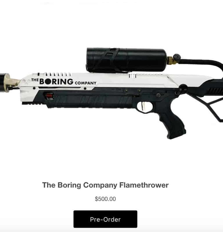 Elon Musk sold all 20K Boring flamethrowers, bringing in $10M