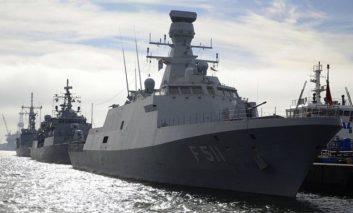 No megaphone gunboat diplomacy here