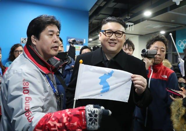 N. Korean cheerleaders caught off guard by fake Kim Jong Un