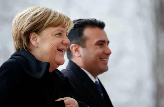 Merkel sees Macedonia taking steps on path to EU
