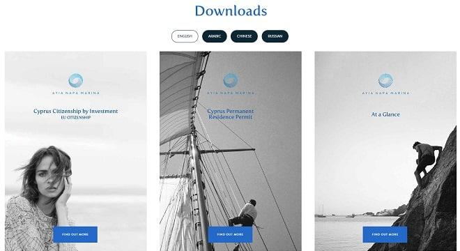 New website for Ayia Napa Marina