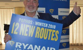 Ryanair announces twelve new routes for winter 2018