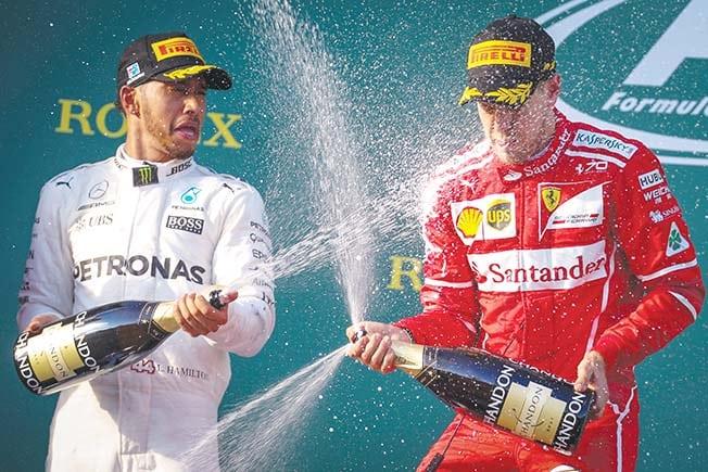 Hamilton, Vettel kick off race for fifth title in Melbourne
