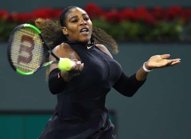 Serena enjoys winning return at Indian Wells