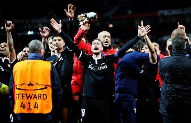 Sevilla jubilant after knockout blow against Man United