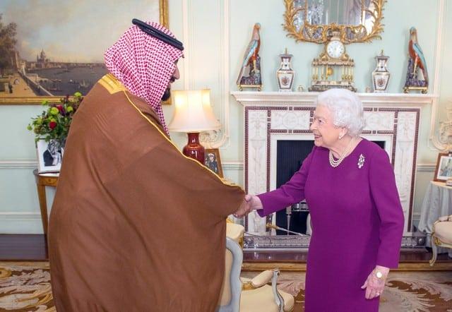 May defends Saudi ties as crown prince gets royal welcome