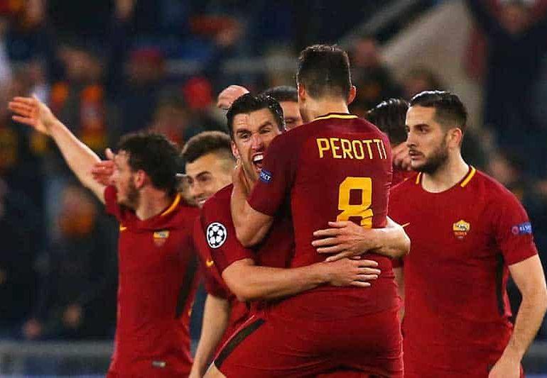 Superb Dzeko goal sends Roma into quarter-finals