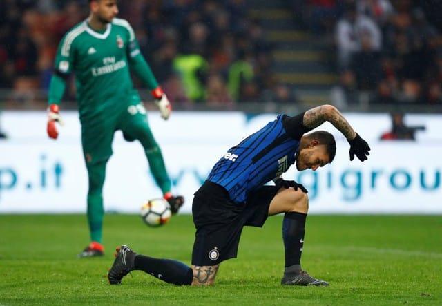Icardi misses open goals, foiled by VAR in Milan derby draw