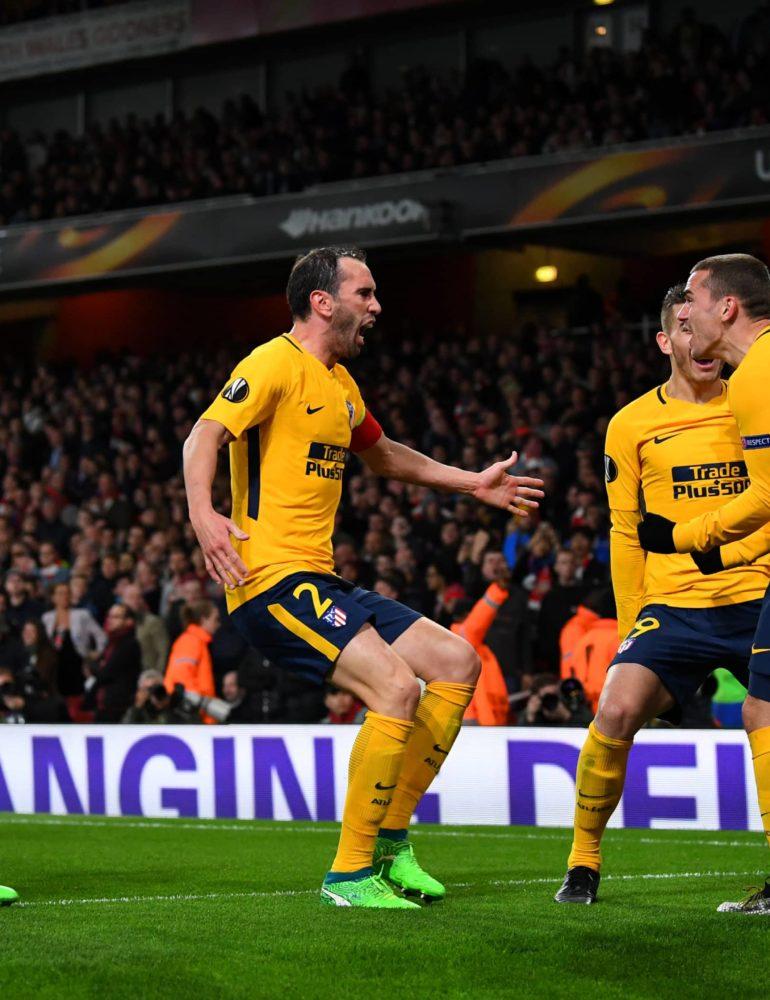 Griezmann equaliser gives Atletico advantage over Arsenal