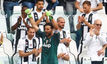 Buffon bids tearful farewell to Juve after 656 games