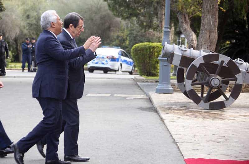 President Anastasiades with Portugese PM Antonio Costa (Photo:Christos Theodorides)