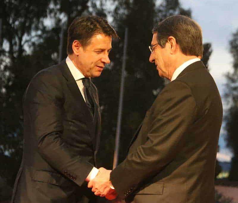President Anastasiades with Italian PM Giuseppe Conte (Photo:Christos Theodorides)