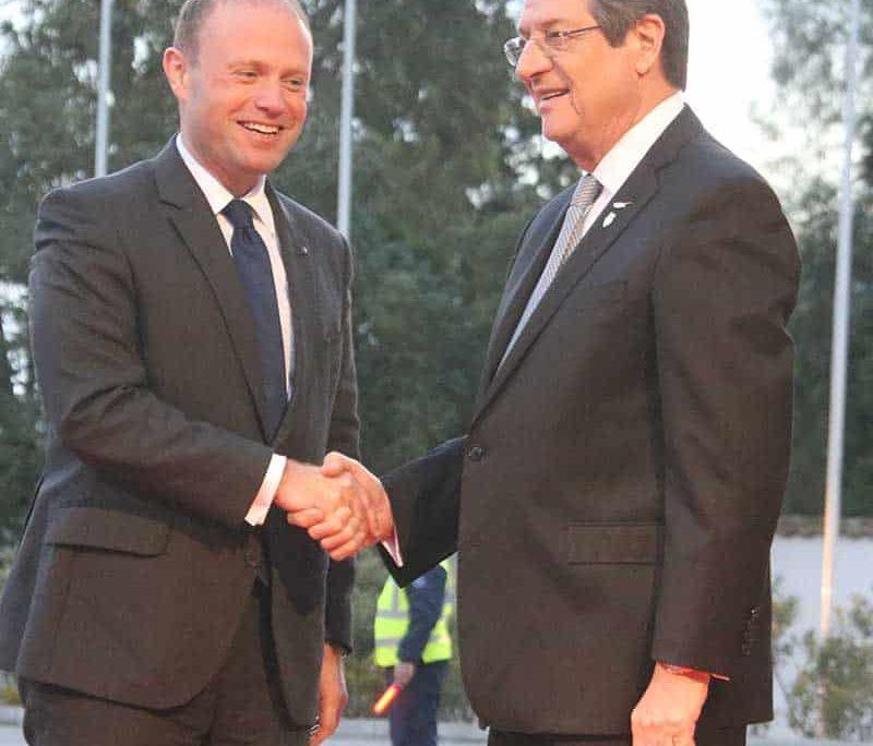 President Anastasiades with Maltese PM Joseph Muscat (Photo:Christos Theodorides)