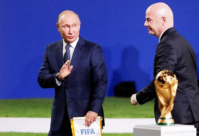 Russian World Cup bear finally ready to roar