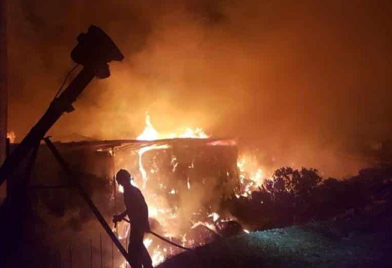 huge fire causes extensive damage to farm cyprus mail