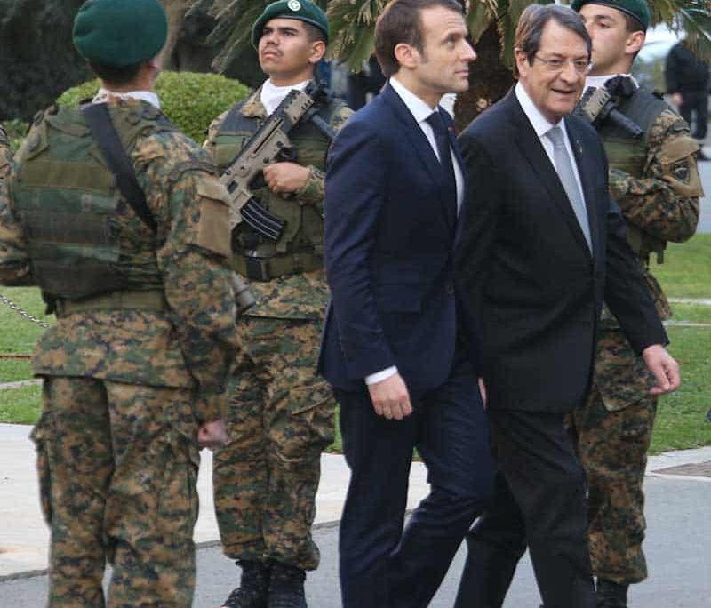 President Anastasiades with French President Emmanuel Macron (Photo:Christos Theodorides)