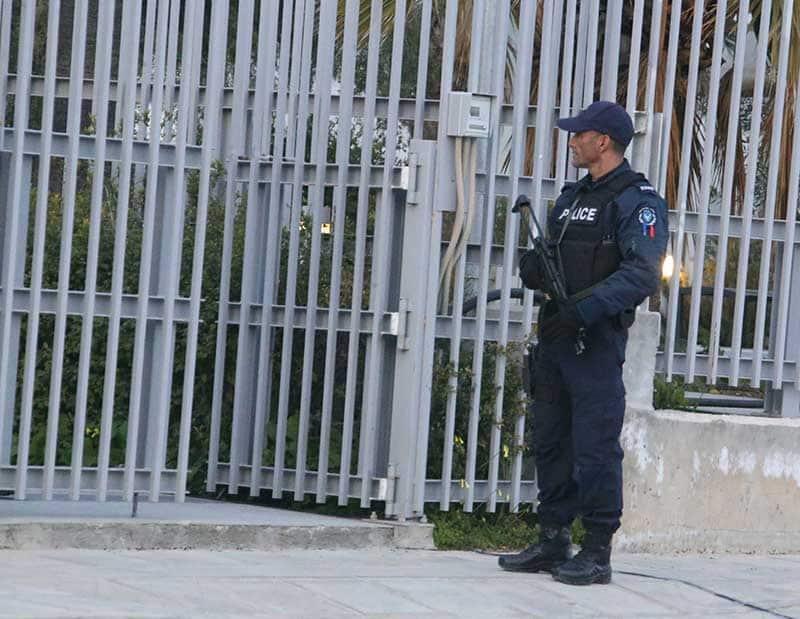 Heavy police presence everywhere in Nicosia