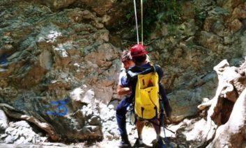 Fire Service rescue trapped climber