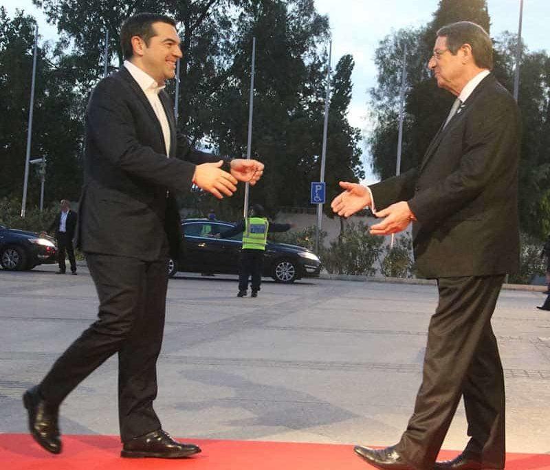 President Anastasiades with Greek PM Alexis Tsipras (Photo:Christos Theodorides)
