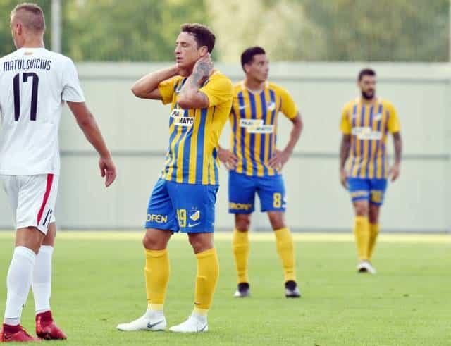Apoel and Apollon in Europa League action