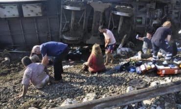 Twenty-four die as Turkish train derails after rain, landslide