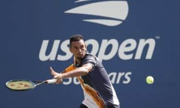 Kyrgios hears umpire's advice and secures win, Kvitova topples Wang