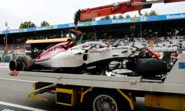 Massive Ericsson crash halts Italian GP practice