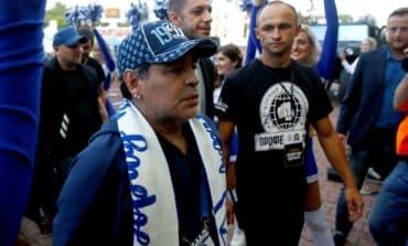 Maradona takes charge of Belarus club