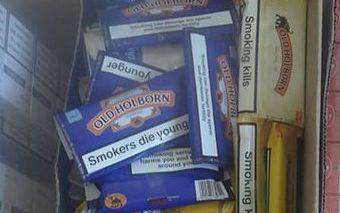 Tobacco seized at Ayios Dhometios crossing