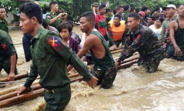 Myanmar dam breach floods villages, thousands driven from homes