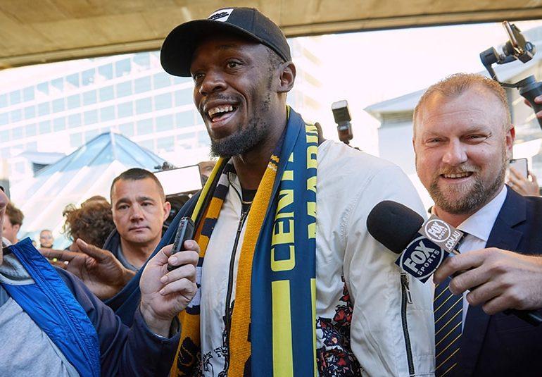 Bolt lands Down Under for 'real'soccer mission