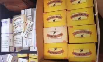 Tobacco and cigarettes seized