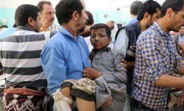 Dozens killed, including children on a bus, in Yemen air strikes