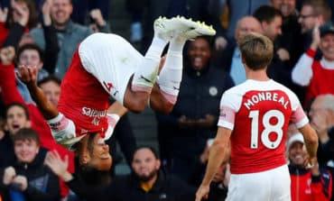 Lacazette, Aubameyang help Arsenal beat Everton