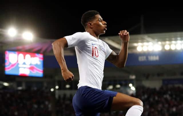 Rashford on target as England beat Swiss in friendly