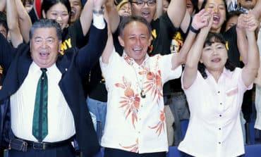 Son of US marine elected Okinawa governor on anti-US base platform