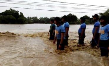Building completely flooded after Mangkhut's historical rainfall [V]
