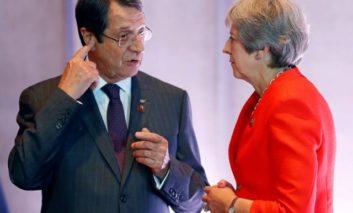Anastasiades meets May, discusses British bases