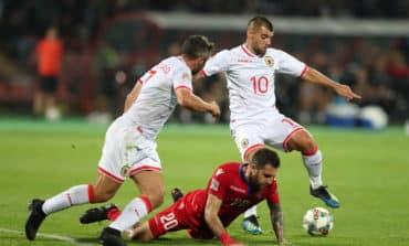 Gibraltar enjoy historic first win after anthem blunder