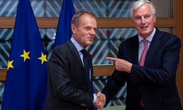 Tusk slams UK slurs on EU, urges 'Canada plus plus plus' Brexit deal