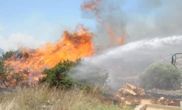 Lightning strike causes fire near Mylikouri
