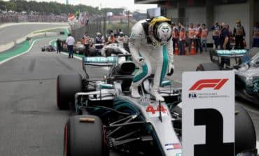 Champion Hamilton on pole in Brazil