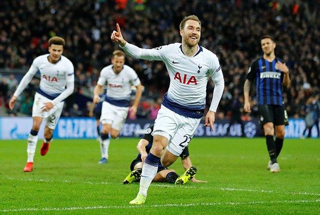 Late Eriksen winner keeps Tottenham hopes alive