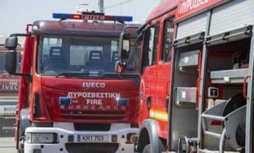 Fire in yard of Nicosia school