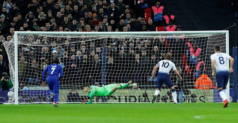 Kane's VAR penalty gives Tottenham edge over Chelsea
