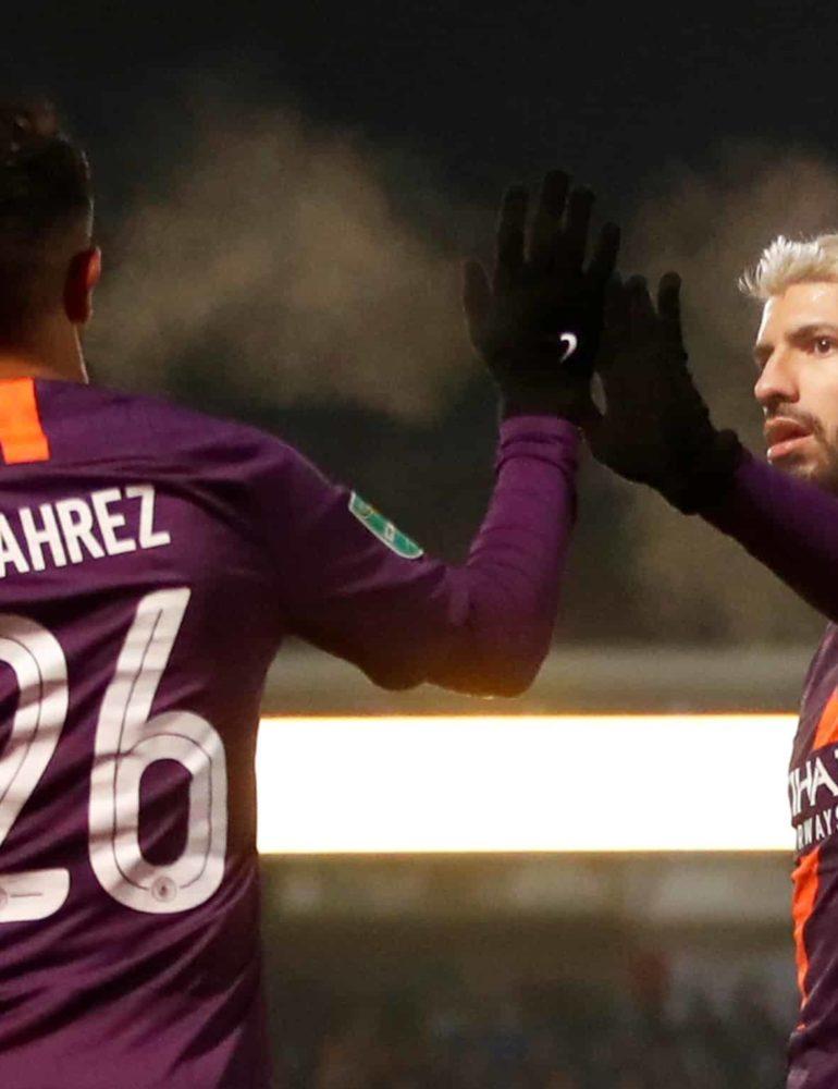 Aguero on target as City cruise into League Cup final