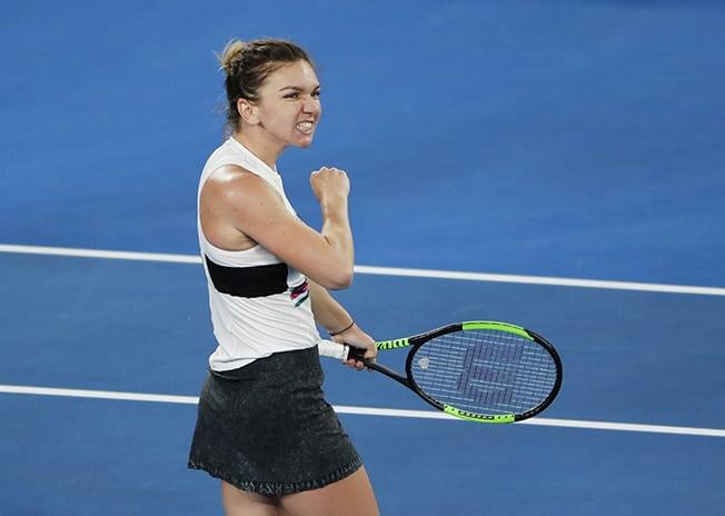 Top seed Halep digs deep to advance, Serena cruises