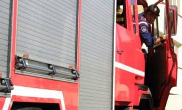 Fire destroys prefab building
