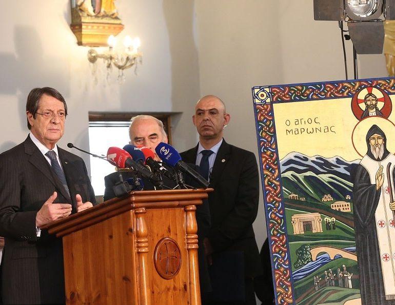 Anastasiades tells Maronite community his goal remains viable solution