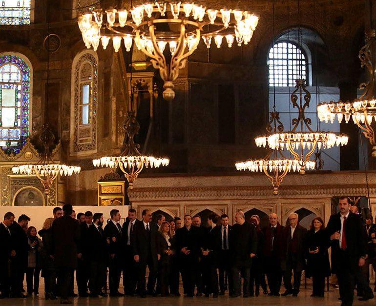 Greece's Tsipras visits Agia Sophia on trip to boost Turkey ties